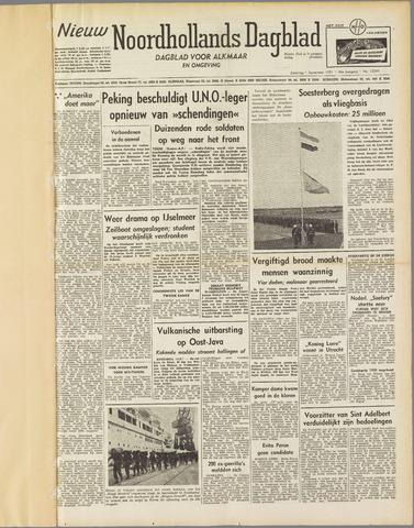 Nieuw Noordhollandsch Dagblad : voor Alkmaar en omgeving 1951-09-01