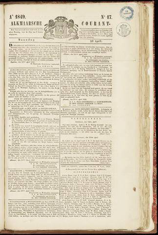 Alkmaarsche Courant 1849-04-23