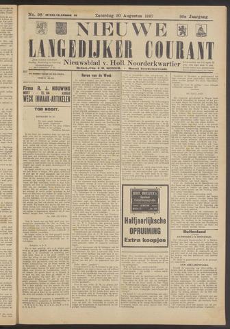 Nieuwe Langedijker Courant 1927-08-20