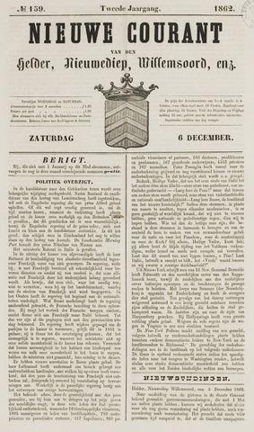 Nieuwe Courant van Den Helder 1862-12-06
