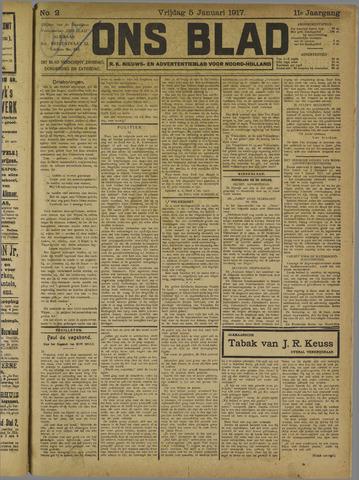 Ons Blad : katholiek nieuwsblad voor N-H 1917-01-05
