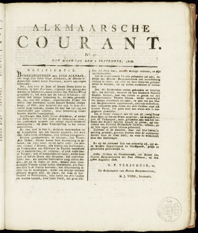 Alkmaarsche Courant 1816-09-02