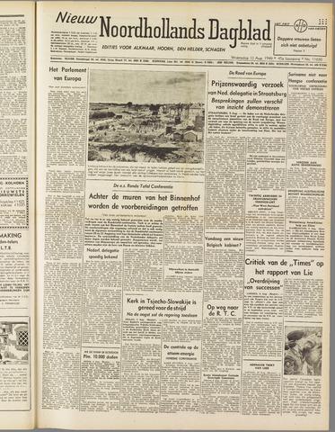 Nieuw Noordhollandsch Dagblad : voor Alkmaar en omgeving 1949-08-10