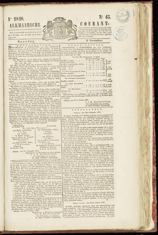 Alkmaarsche Courant 1848-11-06