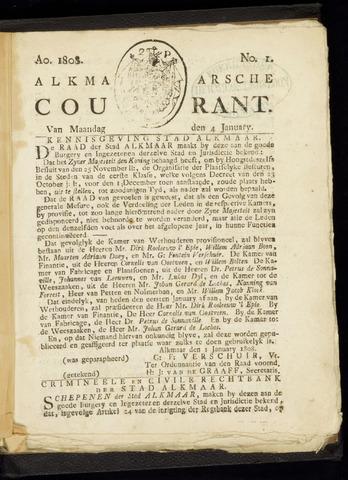 Alkmaarsche Courant 1808-01-04
