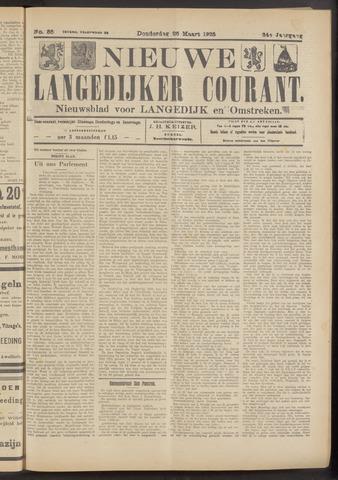 Nieuwe Langedijker Courant 1925-03-26