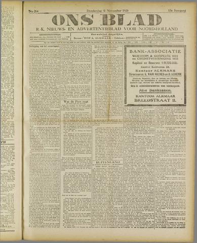 Ons Blad : katholiek nieuwsblad voor N-H 1920-11-11