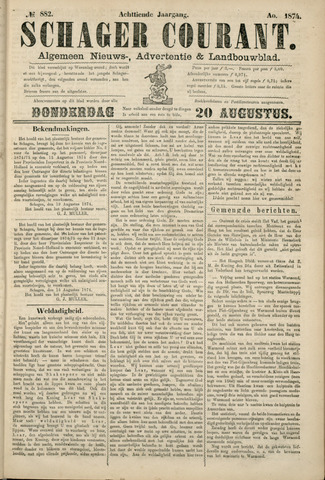 Schager Courant 1874-08-20