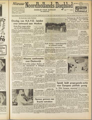 Nieuw Noordhollandsch Dagblad : voor Alkmaar en omgeving 1952-09-06