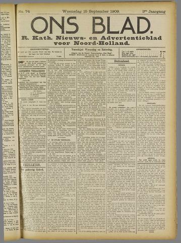 Ons Blad : katholiek nieuwsblad voor N-H 1909-09-15