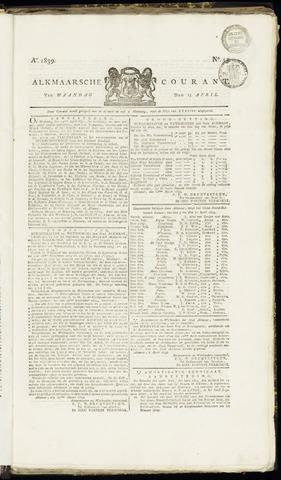 Alkmaarsche Courant 1839-04-15