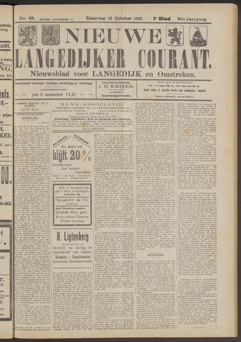 Nieuwe Langedijker Courant 1921-10-15
