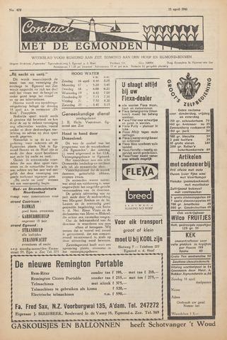 Contact met de Egmonden 1961-04-13