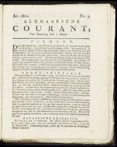 Alkmaarsche Courant 1802-03-01