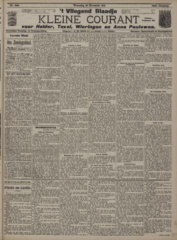 Vliegend blaadje : nieuws- en advertentiebode voor Den Helder 1910-11-30