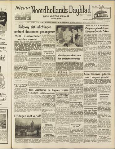 Nieuw Noordhollandsch Dagblad : voor Alkmaar en omgeving 1951-12-22