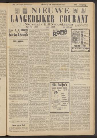 Nieuwe Langedijker Courant 1929-09-14