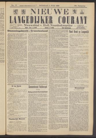 Nieuwe Langedijker Courant 1930-07-01