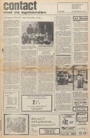 Contact met de Egmonden 1972-03-22