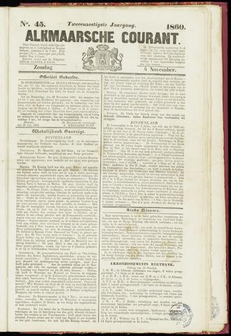Alkmaarsche Courant 1860-11-04