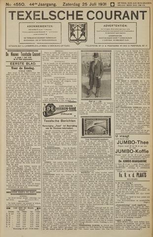 Texelsche Courant 1931-07-25