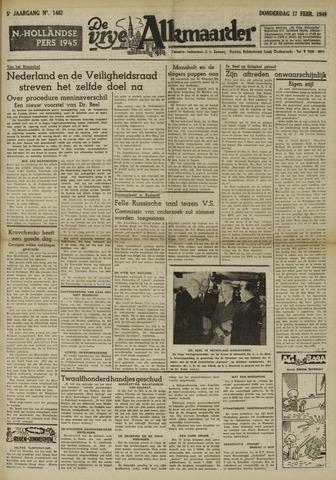 De Vrije Alkmaarder 1949-02-17