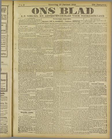 Ons Blad : katholiek nieuwsblad voor N-H 1919-01-13