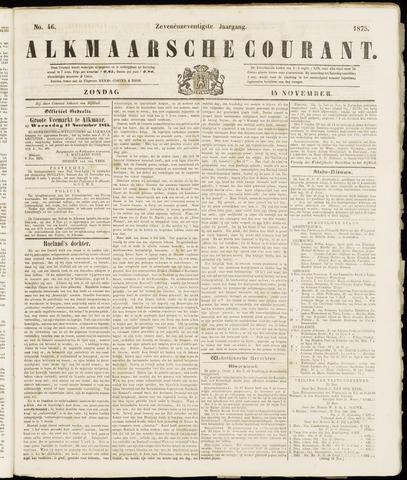 Alkmaarsche Courant 1875-11-14