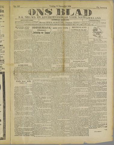 Ons Blad : katholiek nieuwsblad voor N-H 1920-12-31