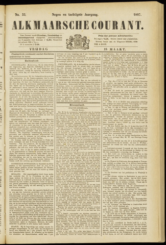 Alkmaarsche Courant 1887-03-18