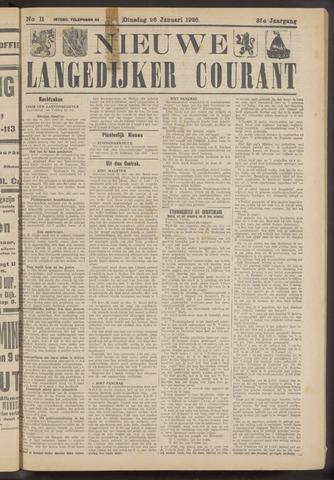 Nieuwe Langedijker Courant 1926-01-26