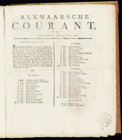 Alkmaarsche Courant 1817-06-23