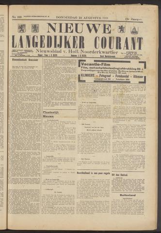 Nieuwe Langedijker Courant 1933-08-24