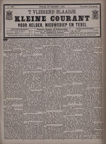 Vliegend blaadje : nieuws- en advertentiebode voor Den Helder 1881-09-20