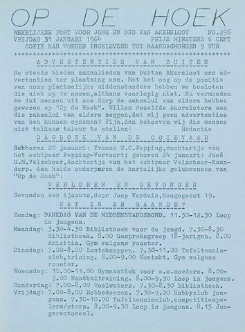 Op De Hoek, weekblad voor Akersloot 1964-01-31