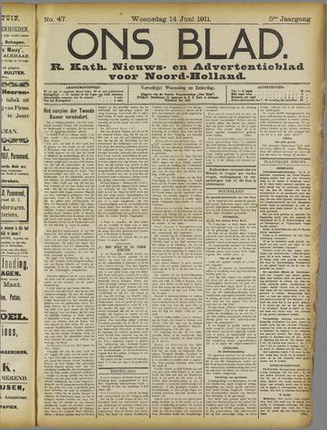 Ons Blad : katholiek nieuwsblad voor N-H 1911-06-14
