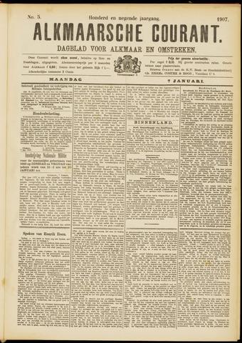 Alkmaarsche Courant 1907-01-07