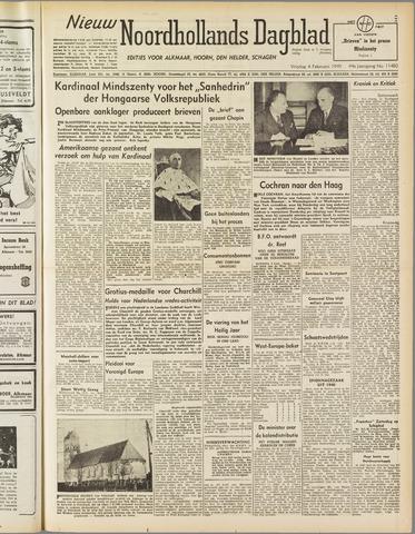 Nieuw Noordhollandsch Dagblad : voor Alkmaar en omgeving 1949-02-04