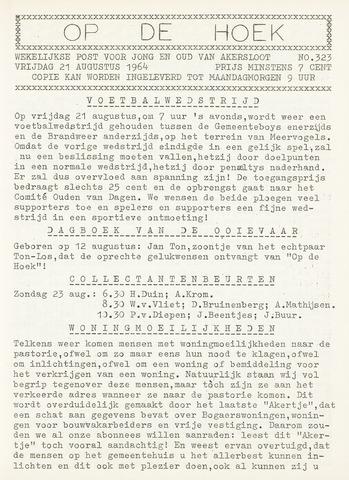 Op De Hoek, weekblad voor Akersloot 1964-08-21