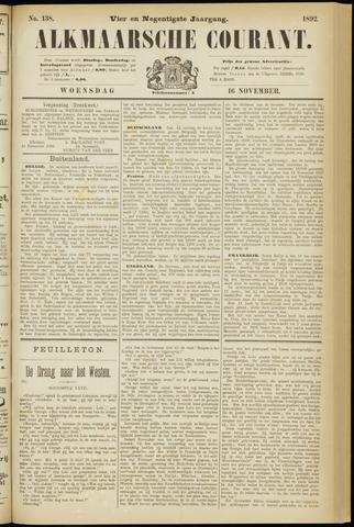 Alkmaarsche Courant 1892-11-16