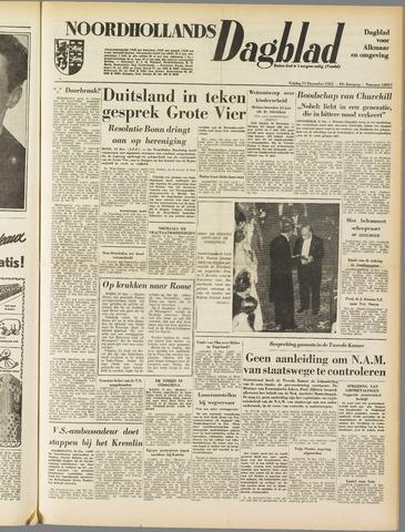 Noordhollands Dagblad : dagblad voor Alkmaar en omgeving 1953-12-11