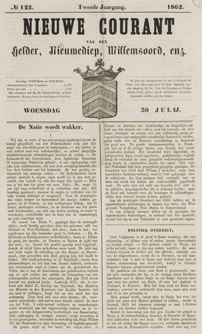 Nieuwe Courant van Den Helder 1862-07-30