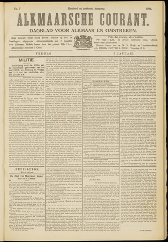 Alkmaarsche Courant 1914-01-09