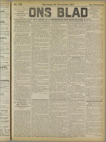 Ons Blad : katholiek nieuwsblad voor N-H 1917-11-24