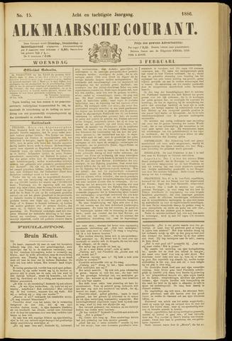 Alkmaarsche Courant 1886-02-03