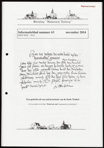 Informatieblad stichting Historisch Niedorp 2014-11-01
