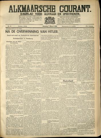 Alkmaarsche Courant 1933-03-07