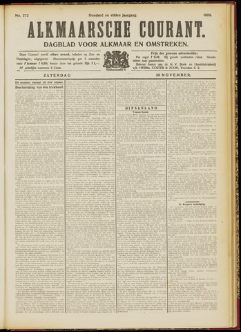 Alkmaarsche Courant 1909-11-20