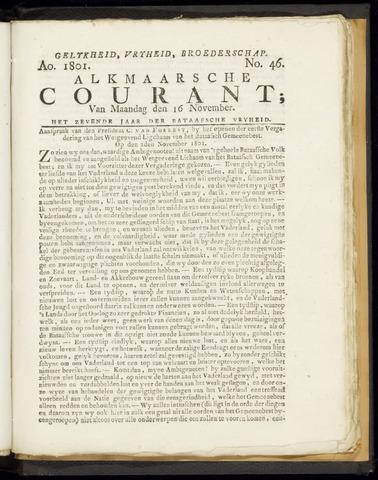 Alkmaarsche Courant 1801-11-16