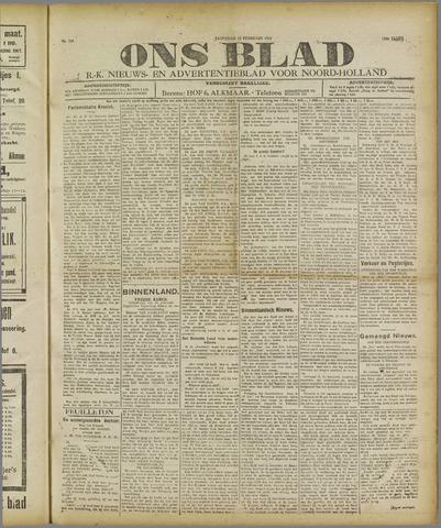 Ons Blad : katholiek nieuwsblad voor N-H 1921-02-12